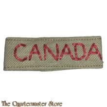 Slip on Canada  WW2 summer