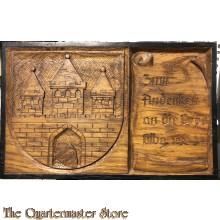 Wooden plaquette Zum Andenken an die Orpo (OrtsPolizei) Olbg (Oldenburg) 1932-34