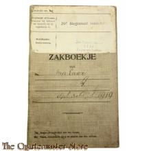 Oorlogszakboekje 20e Regiment Infanterie, 20e Depotbatt Staf Registratie