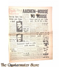 Newspaper, Daily Mirror 1944,  Aachen -  house to house