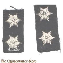 Ranginsignes 1e Luitenant pre 1912 (Rank insignia 1st Lt pre 1912) zwart