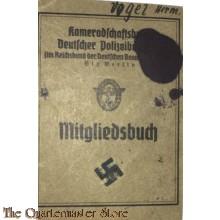 Mitgliedsbuch Kameradschaftsbund Deutsche Polizei Beamten Konstanz  1937