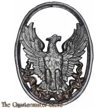 Gietijzeren wand decoratie adelaar in cirkel