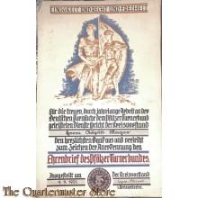 Oorkonde / Ehrenbrief des Pfalzer Turnerbundes 1931