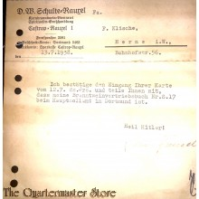 Postkarte 13.7.1938 Bestatigung Hauptzollamt Dortmund