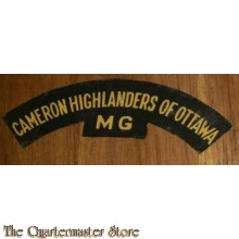 Shoulder title Cameron Highlanders of Ottawa MG, 3rd Canadian Division (canvas)