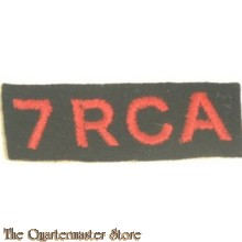 7 th ROYAL CANADIAN Artillery