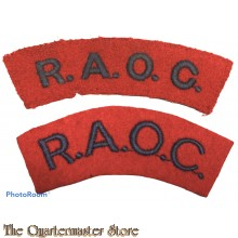 Shoulder flashes Royal Army Ordnance Corps (R.A.O.C.)