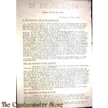Krant de Nieuwsbode Orgaan van de vrije Pers  31 oct 1944
