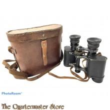 France - Pair of binoculars Jason HUET in original case in leather, WW2