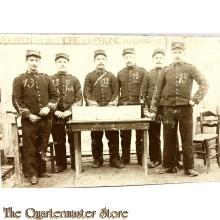 Studio portret 6 soldiers Souvenir du Pere la Prune au Camp de Sisonne  belgium 1918