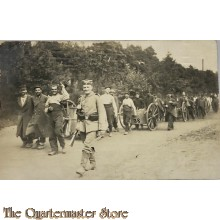 Postkarte 1914 German guard with French prisoners