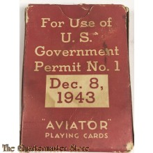 US Army Pack of playing cards 1943 Red Cross