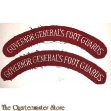 Shoulder flashes Governor General's foot Guards, 4th Canadian Armoured Division