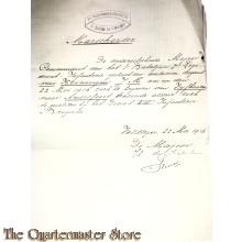 Marschorder 7 RI 1 bat 1 comp 1916