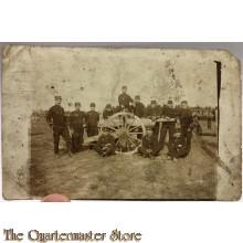 Mil postcard Artillerie bemanning met geschut belgium 1914