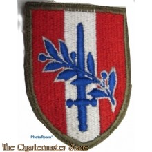 Mouwembleem Headquarters, U.S. Forces, Austria (Sleeve badge Headquarters, U.S.Forces, Austria)