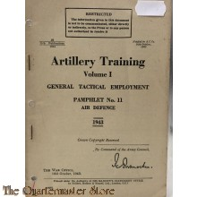 Pamphlet no 11 General Tactical Employment, vol 1 Air Defence 1943