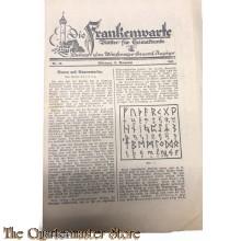Die Frankenwarte nr 46 Wurzburg 16 nov 1933 (Beilage zum Wurzburger General Anzeiger)
