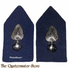 Kraag emblemen Korps Koninklijke Marechaussee