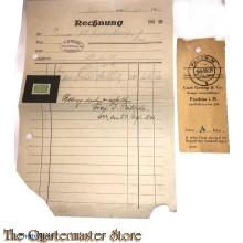 Rechnung 24 RM Leer (ostfr) Oelrichs Adolf Hitlerstrasse Leer 1942