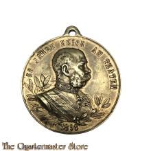 Medaille  50 Jahre reich an Thaten / 1848 - 1898 (medaille voor 50 jaar regering 1848-1898 FJI)