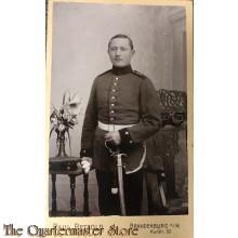 Studio foto soldaat met sabel WW1 Brandenburg