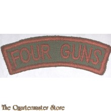 Shoulder title Four Guns
