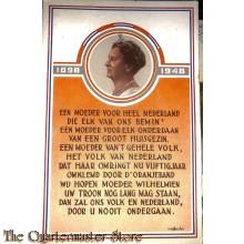 Ansicht / Postkaart 1898 - 1948 Een moeder voor heel Nederland , die elk van ons bemin....