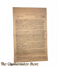Trouwbulletin spec uitgave no 9 maandag 13 november 1944