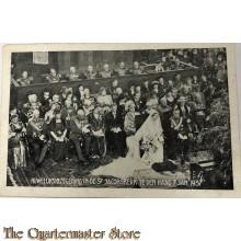 Prent briefkaart huwelijks inzegening St Jacobskerk Den Haag 7 jan 1937