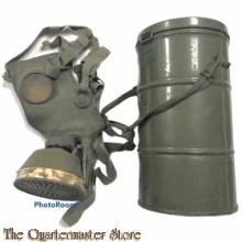 Blik met gasmasker Burger bescherming 1940-45