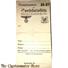 Bezugsausweiss fur Speissekartoffeln 1942 (Document for ordering potatoes 1942)
