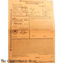 Steuerkarte Breslau 1935 (Tax form 1935)
