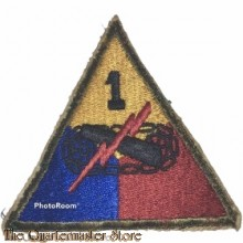 Mouwembleem 1st Armored Division (sleeve badge 1st Armored Division)