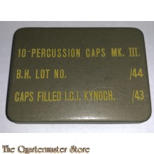 Tin caps percussion MK III artillery 1943
