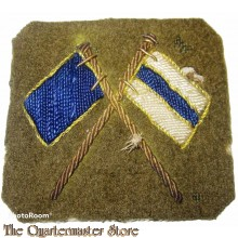 Trade badge Crossed Flags Signaller Bullion