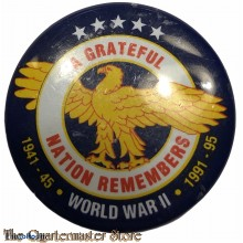 Revers pin A Gratefull Nation Remembers 1941-45  1991-95