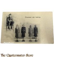Prent briefkaart mobilisatie 1939 Droomen zijn bedrog