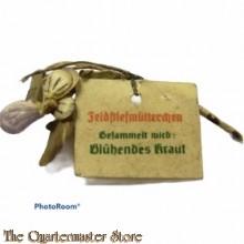 Spende abzeichen Bluhendes Kraut Feldstiefmutterchen (Donation item WhW dried flower)