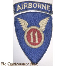 Mouwembleem 11th Airborne Division (Sleeve patch 11th Airborne Division)