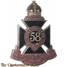 Cap badge 58th Inf Bat (The Essendon Coburg Brunswick Regiment)
