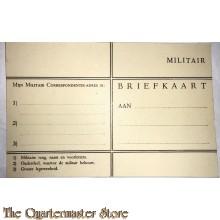Briefkaart militair Landmacht 1940