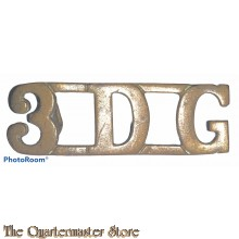 Shoulder title 3rd Dragoon Guards (Brass)