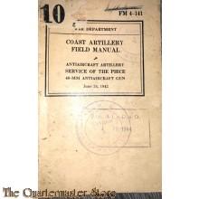 Manual FM 4-141 Coast Artillery Field Manual