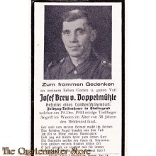 In Memoriam Karte/Death notice Jozef Brue