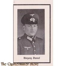 In Memoriam Karte/Death notice Vinzenz Daniel