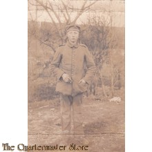 AnsichtsKarte (Mil. Postcard) Soldier in the Field posing 1912