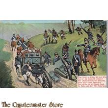 AnsichtsKarte (Mil. Postcard) artillerie Dem Feind zu Leibe 1914