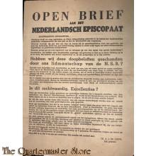 """""""Open brief aan het Nederlandsch Episcopaat"""", betreffende het lidmaatschap van de NSB voor rooms-katholieken, 1941.12.31"""